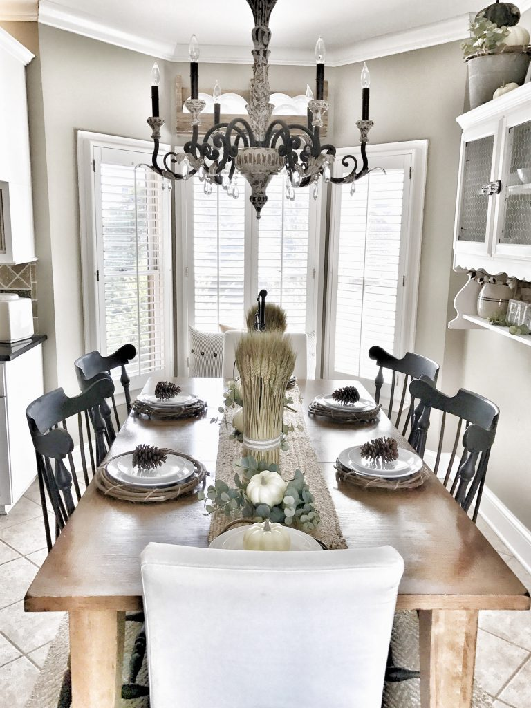 fall home tour kitchen table