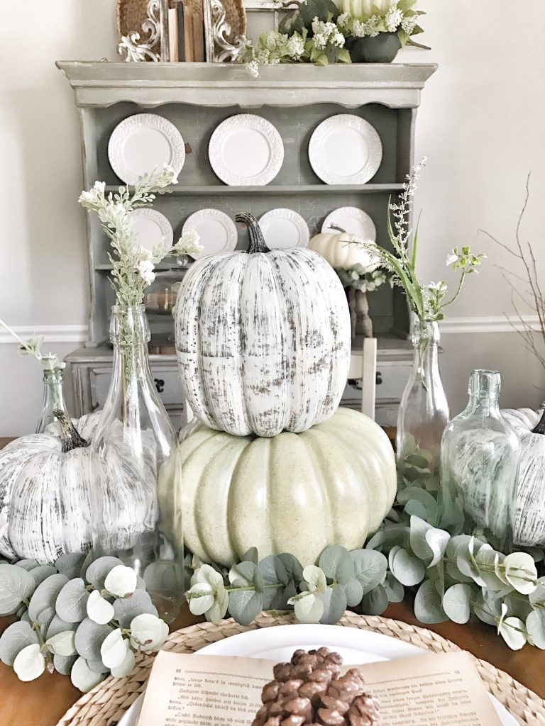 fall dining room centerpiece
