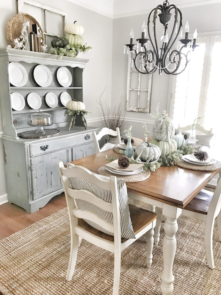 neutral fall dining room