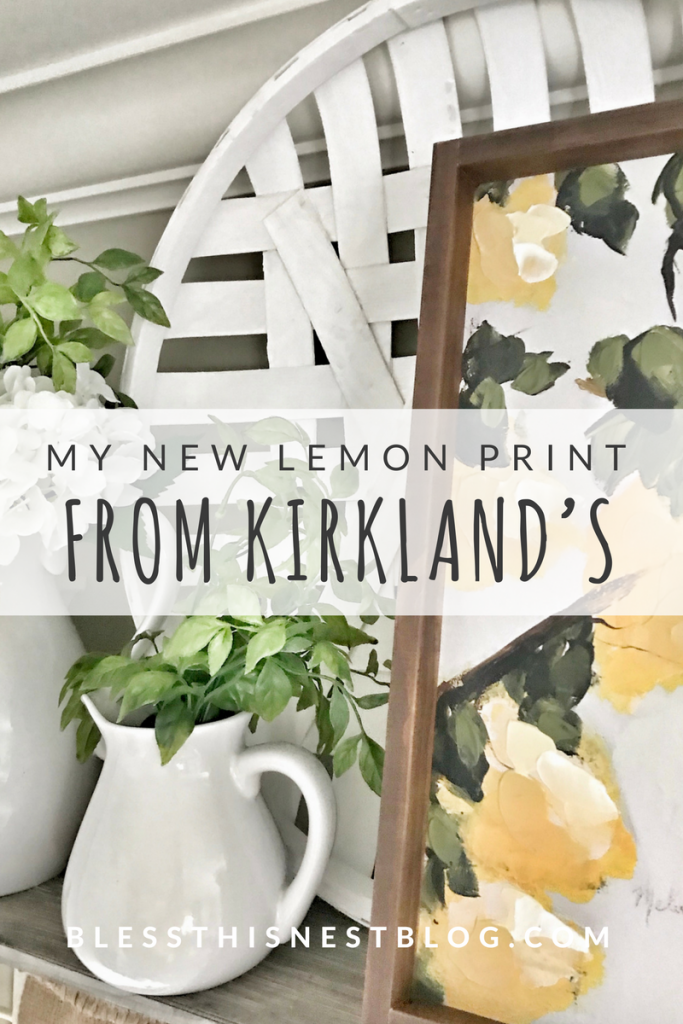 my new lemon print from Kirklands
