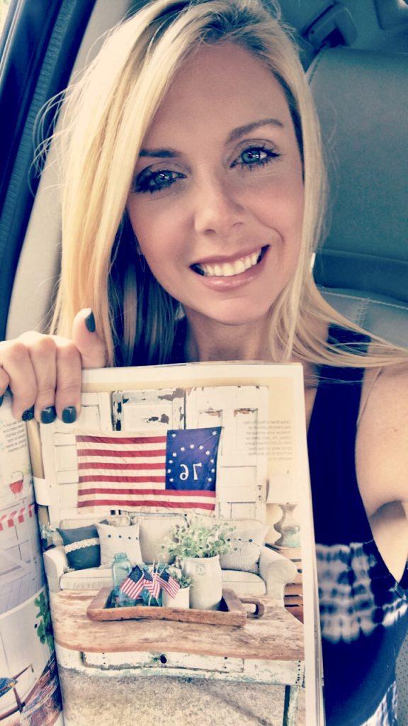 carissa holding magazine