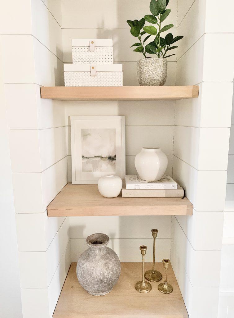 Threshold Target decor on shelves