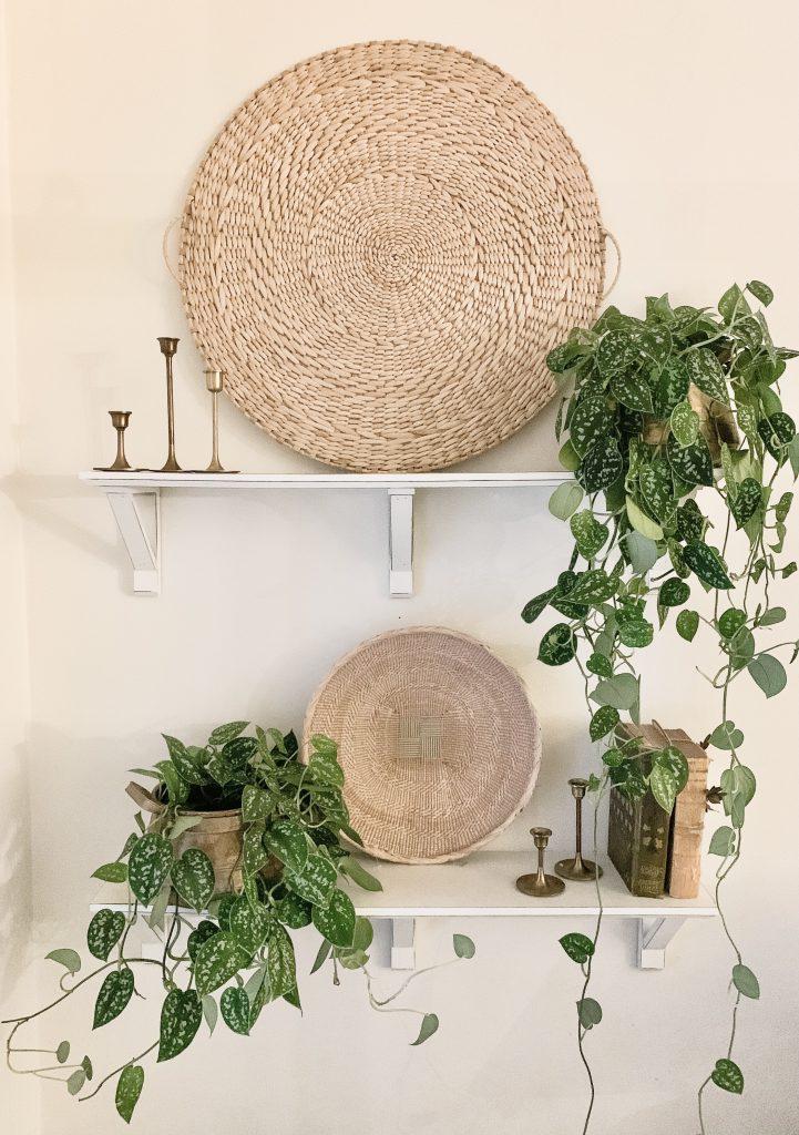 Target wall basket above shelf
