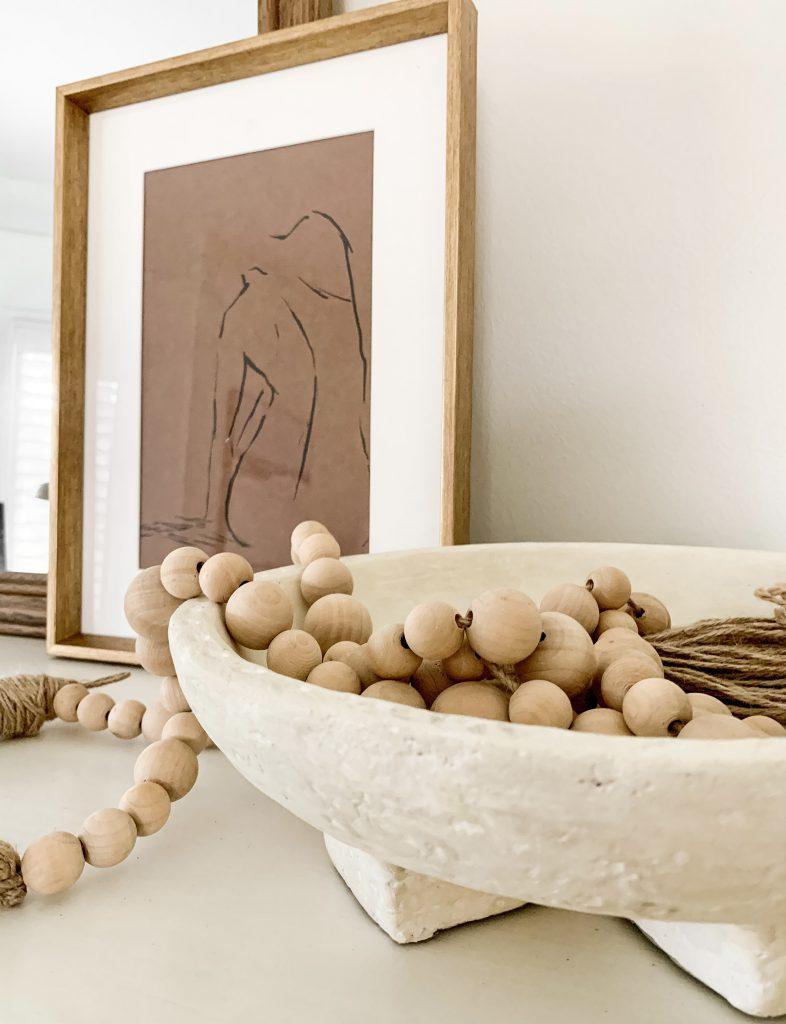 Studio McGee concrete bowl with beads
