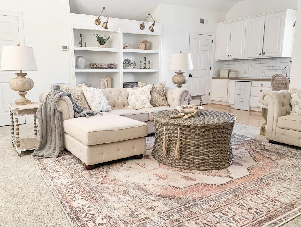 view of Arncliffe area rug in bonus room