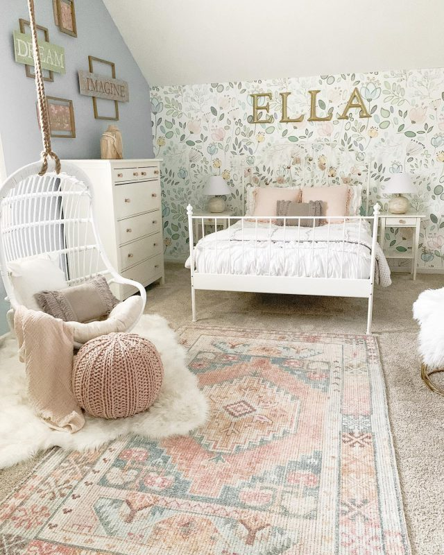 My daughter got a fun surprise for her birthday this week! We surprised her while she was at school and hung this fun swing chair in her room! She was so surprised and beyond excited!   Today on the blog, I shared all the details on the swing and a full tour of this room refresh. Head over to blessthisnestblog.com or link in profile!   #bhghome #shiplap #modernfarmhouse #farmhousestyle #interiors123 #homedecor #mediacabinet #farmhouseinspired #farmhousedecor #neutraldecor #americanfarmhousestyle #prettylittleinteriors #fixerupper #countrylivingmagazine #mydecorvibe #currentdesignsituation #betterhomesandgardens