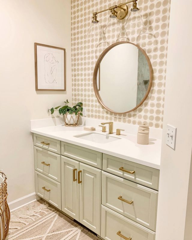 Master bathroom reveal!!!  My bathroom has been quit the design challenge for me, but I think it's finally right. Today on the blog, I shared a full tour of this room. I also shared some easy ways to update an outdated bathroom including changing out the faucets. Swipe left to see more details on my new @lulani_faucet . These gorgeous faucets added so much beauty and elegance to my countertops. I shared all about them in the post. I hope you will check it out! Link in profile!  I'll also be giving a tour in my Stories today so be sure to look for that.   #modernfarmhouse #farmhousestyle #interior123 #bhghome #antiquefarmhouse #homedecor #shiplap #farmhouseinspired #farmhousedecor #magnoliahome #neutraldecor #americanfarmhousestyle #prettylittleinteriors #fixerupper #countrylivingmagazine #mydecorvibe #currentdesignsituation #betterhomesandgardens #ltkhome #moody_tones