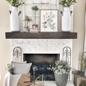 Pottery Barn mantel/shelf hung