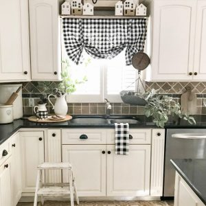 kitchen sink with Christmas decor